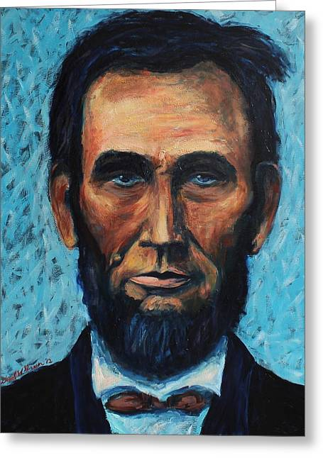 Lincoln Portrait #4 Greeting Card by Daniel W Green