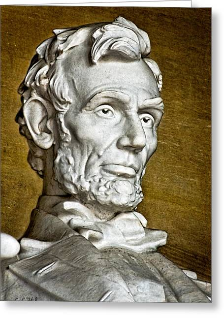 Lincoln Profle 2 Greeting Card by Christopher Holmes