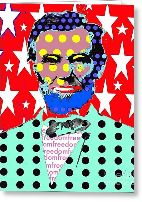 Lincoln Greeting Card by Ricky Sencion