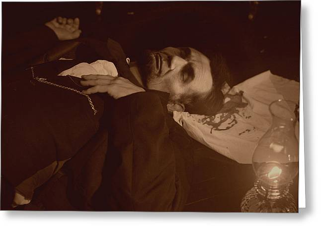 Lincoln Shot Greeting Card by Ray Downing
