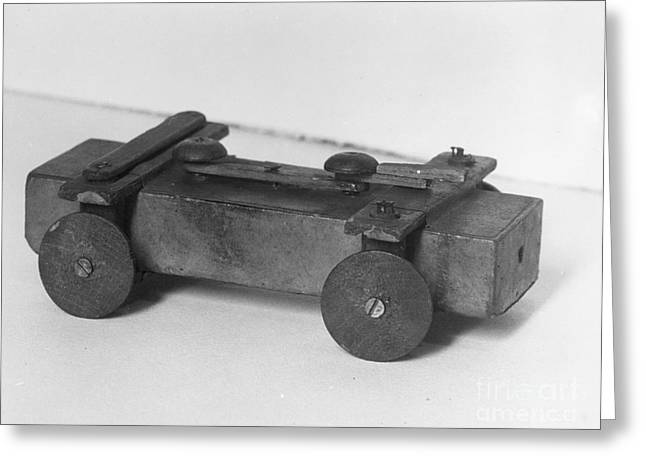 Lincoln Toy Wagon Greeting Card by Granger