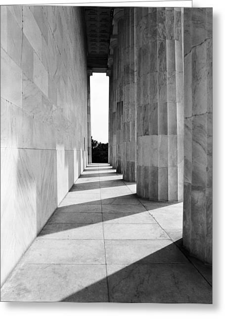 Lincolns Columns Greeting Card