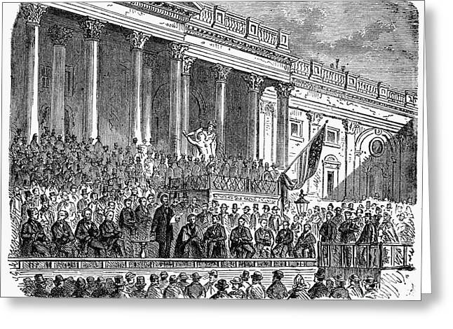 Lincolns Inauguration, 1861 Greeting Card