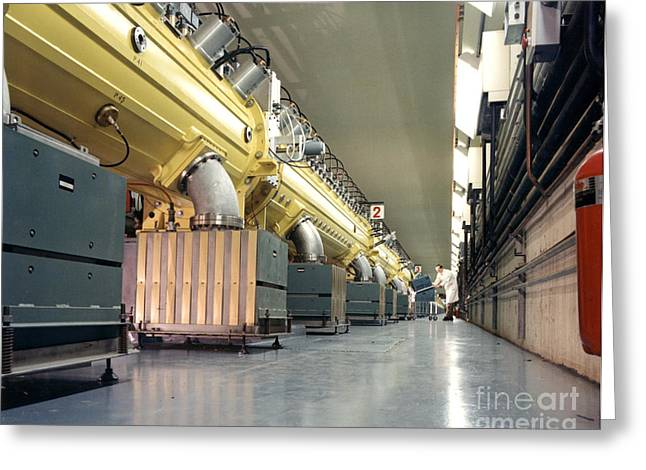 Linear Accelerator Linac Greeting Card by Science Source