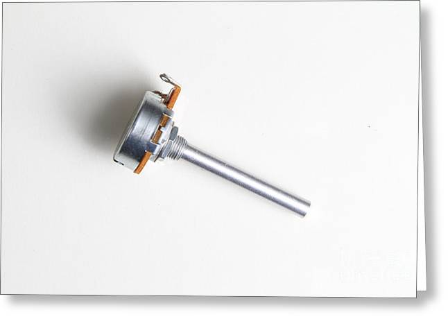 Linear-taper Potentiometer Greeting Card by Photo Researchers, Inc.