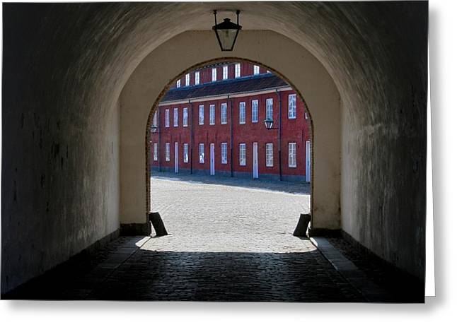 Lines At The End Of The Tunnel Greeting Card by Odd Jeppesen