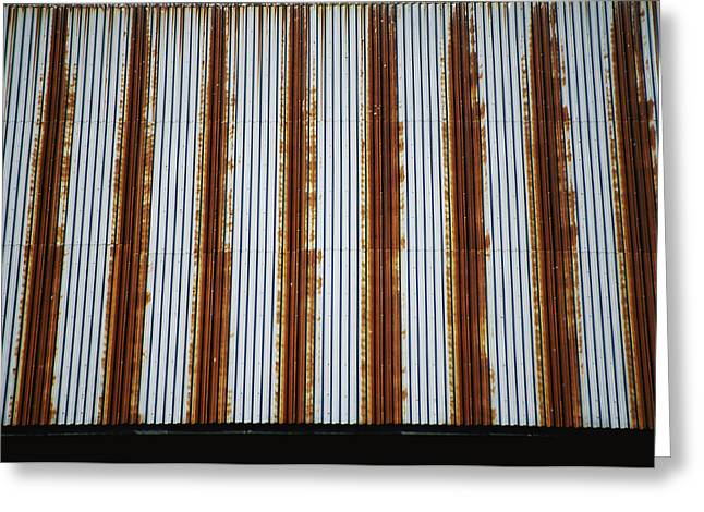 Lines Of Rust Make A Bold Pattern Greeting Card
