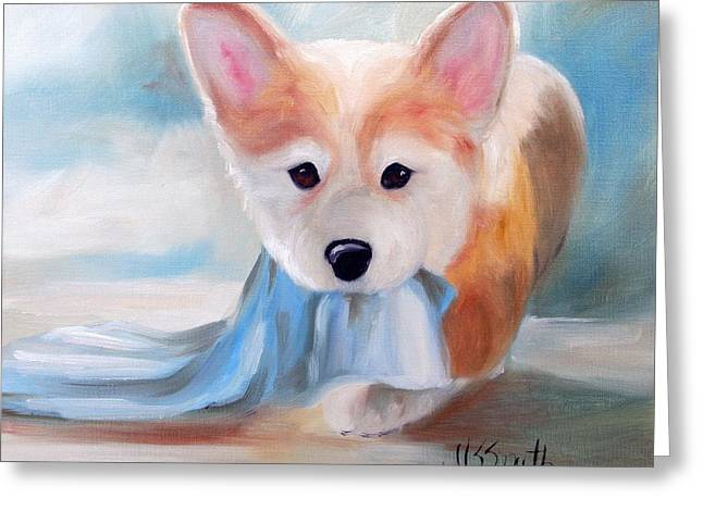 Linus And His Blanket Greeting Card by Mary Sparrow