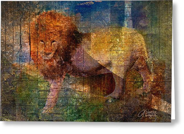 Lion Greeting Card by Arline Wagner