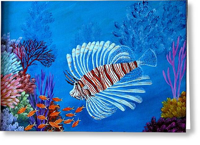 Lion Fish Greeting Card