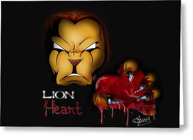 Lion Heart Greeting Card by Abhay Pratap Singh Tomar