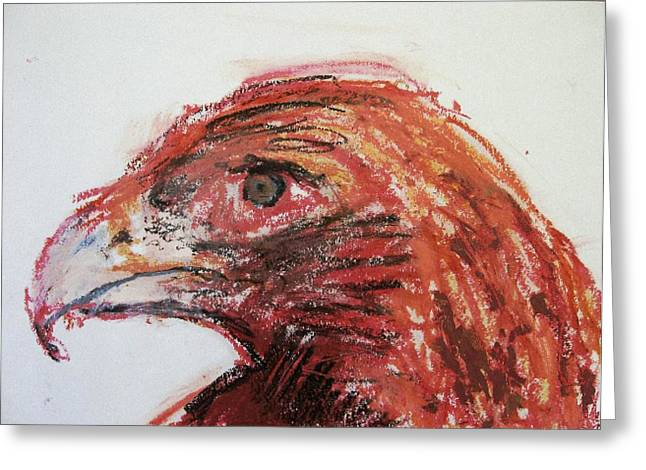 Lipstick Eagle Greeting Card by Iris Gill