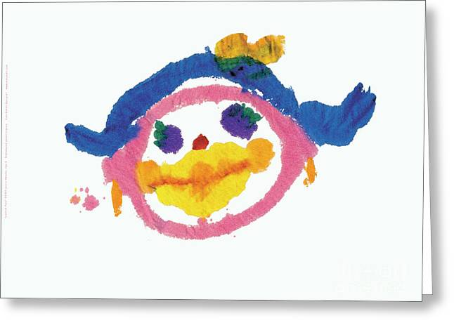 Lipstick Face Greeting Card