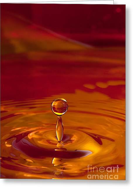 Liquid Art Greeting Card by Cindy Singleton