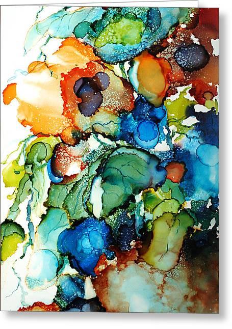Liquid Poppies Greeting Card