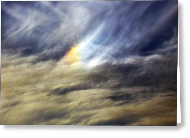 Liquid Sky Greeting Card by Sandro Rossi