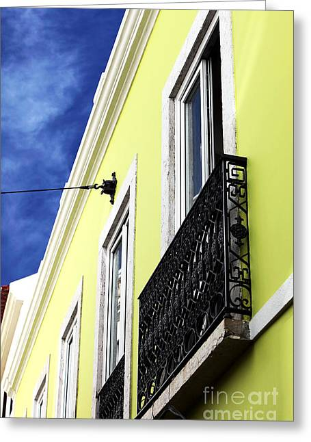 Lisboa Colors Greeting Card by John Rizzuto