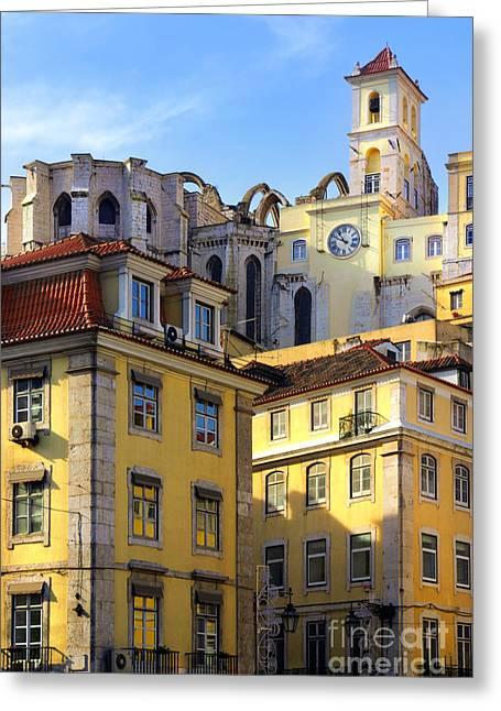 Lisbon Buildings Greeting Card by Carlos Caetano