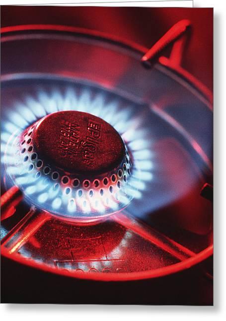 Lit Gas Ring Greeting Card