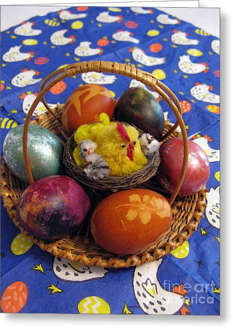Lithuanian Easter Basket Greeting Card
