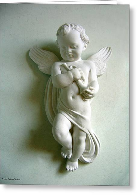 Little Angel Greeting Card by Suhas Tavkar
