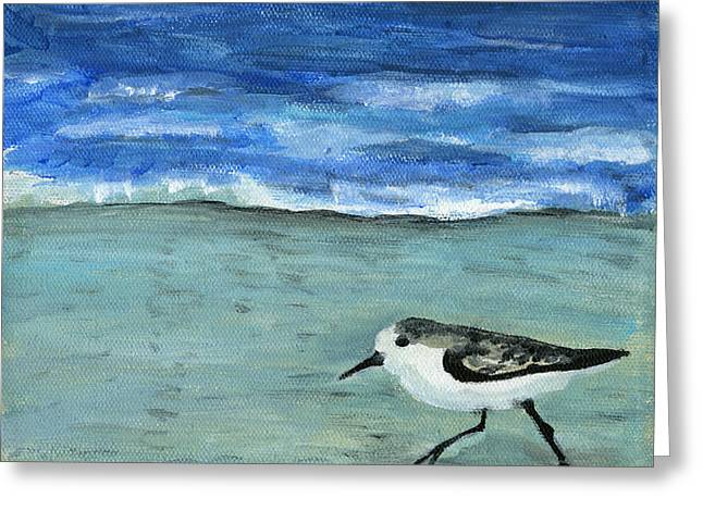 Little Bird At The Beach Greeting Card