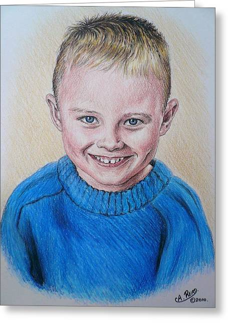 Little Boy Commissions Greeting Card by Andrew Read