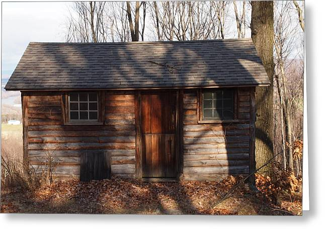Little Cabin In The Woods Greeting Card by Robert Margetts