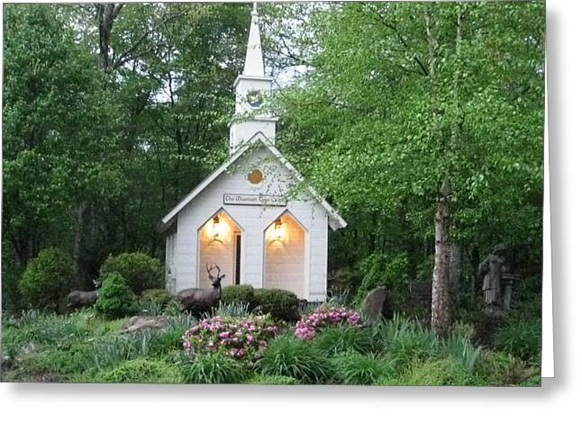 Little Church In The Mountains Greeting Card