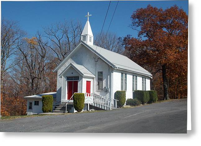 Little Country Church Greeting Card by Angelika MacDonald