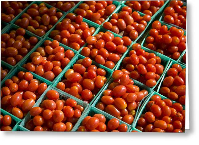 Little Crates Of Grape Tomatoes Greeting Card by Stephen St. John