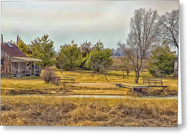 Little House On A Prairie Greeting Card by Bill Tiepelman
