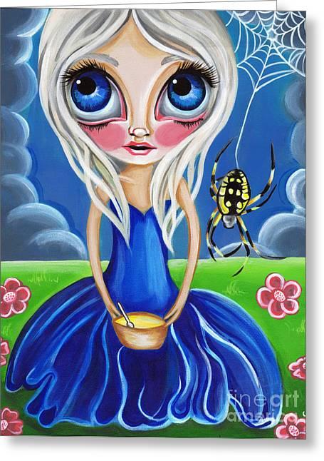Little Miss Muffet Greeting Card by Jaz Higgins