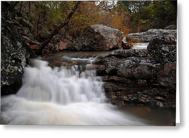 Greeting Card featuring the photograph Little Missouri Falls by Renee Hardison