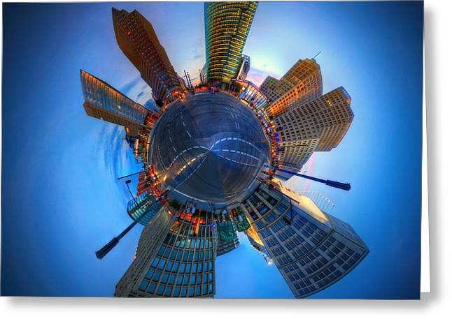Little Planet Berlin Greeting Card by Marcus Klepper