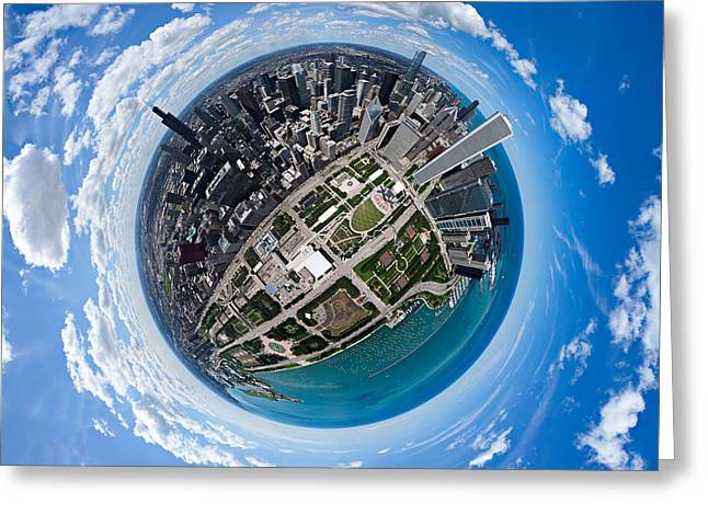 Little Planet Chicago Greeting Card