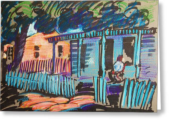 Log Cabins Pastels Greeting Cards - Little Porch House Greeting Card by Bill Joseph  Markowski