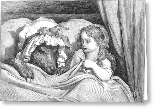 Little Red Riding Hood Greeting Card by Granger