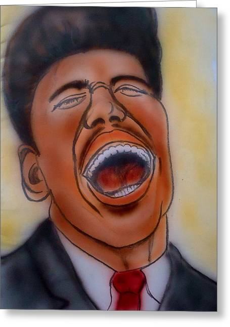 Little Richard Greeting Card by Pete Maier