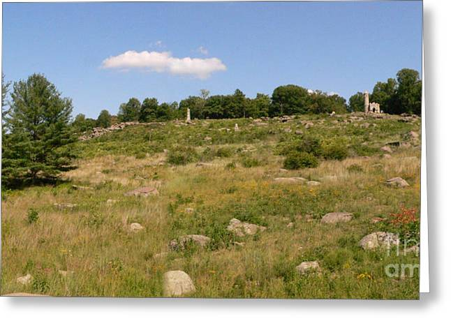 Little Round Top From Devils Den Greeting Card by David Bearden