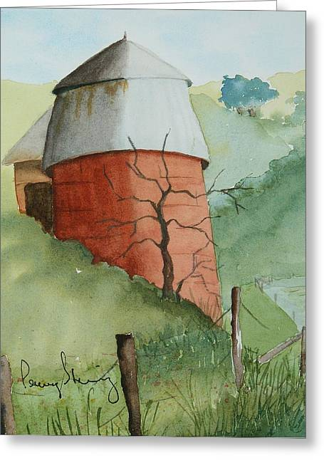 Little Silo Greeting Card
