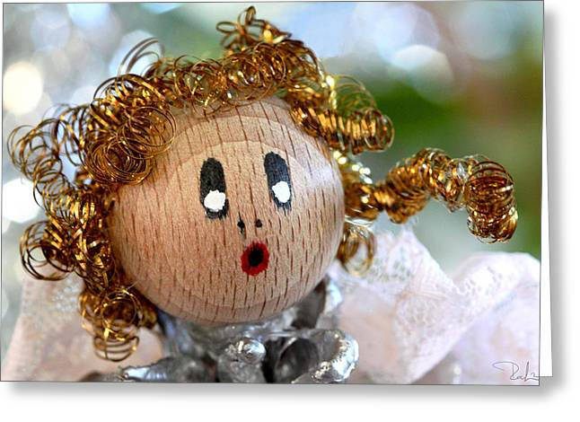 Greeting Card featuring the photograph Little Singing Angel by Raffaella Lunelli