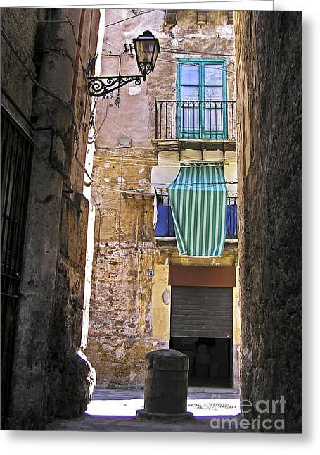 Little Street Of Palermo Greeting Card