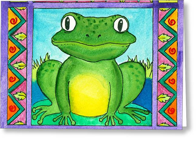 Little Toad Greeting Card by Pamela  Corwin