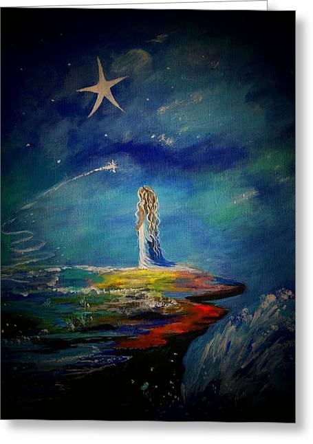 Little Wishes One Greeting Card by Leslie Allen