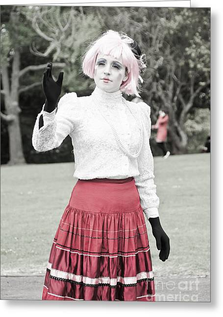 Live Doll In The Park Greeting Card