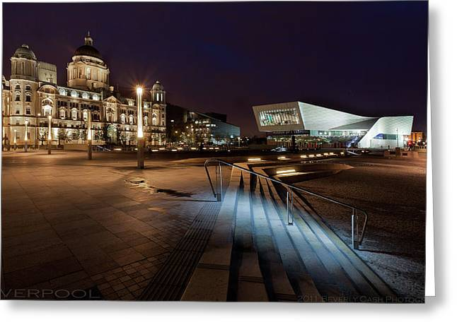 Liverpool - The Old And The New  Greeting Card by Beverly Cash