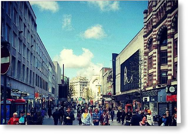 #liverpool #city #shopping #shops Greeting Card