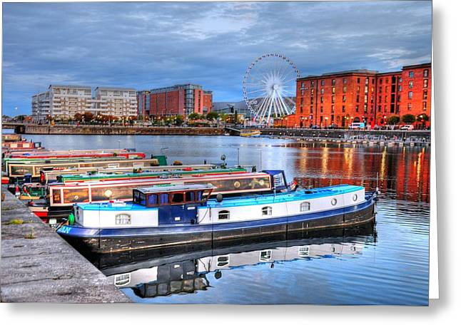 Liverpool England Greeting Card by Barry R Jones Jr