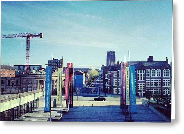 #liverpool #liverpoolcathedrals Greeting Card by Abdelrahman Alawwad